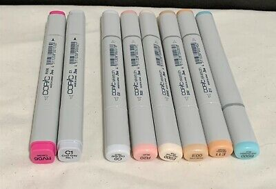 COPIC Markers Too Sketch Alcohol Craft Lot of 8