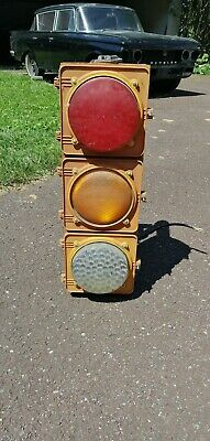 Vintage Retired Collectible Traffic Light Signal No Hood Or Visor