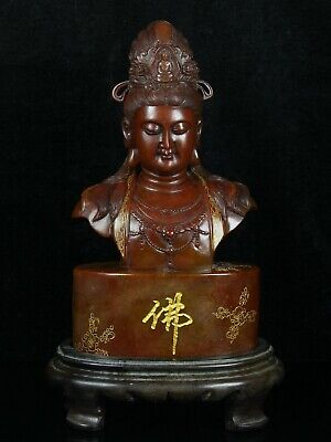 Chinese Exquisite Hand-carved Guanyin Carving Shoushan Stone statue