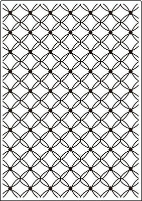 Crafts-Too Embossing Folder A4 Fancy Lattice CTA406
