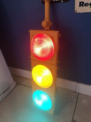 Retired Traffic Signal Light with LED light lenses