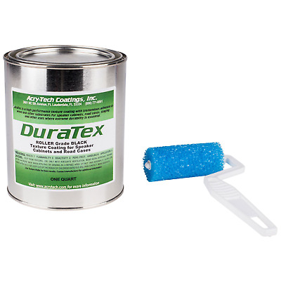 Acry-Tech DuraTex Black 1 Quart Roller Grade Cabinet Texture Coating Kit with