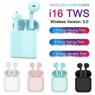 i16 Bluetooth 5.0 TWS Earbuds Headphones Earphones Wireless Stereo Touch Control