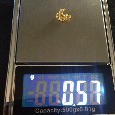 Gold Nugget Nice 0.57g Crystalline High Purity