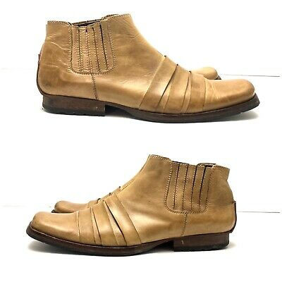 Kenneth Cole New York Mens 7 Square Toe Italy Made Ankle  Wind Tonal II READ
