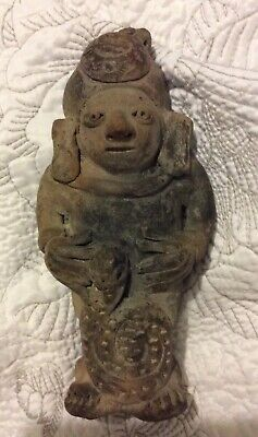Pre-Columbian? Clay Statue Sculpture Aztec Mayan Antique Healer Fertility