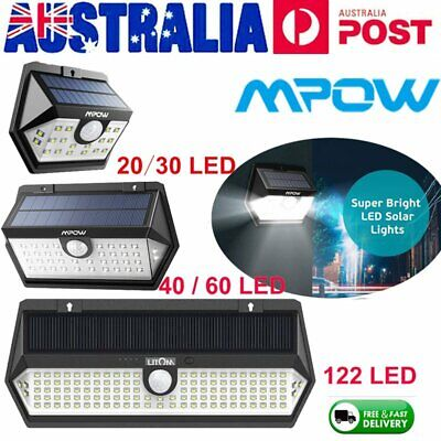 Mpow IP65 Outdoor LED Solar Light Super Bright Motion Sensor Security Wall Lamp