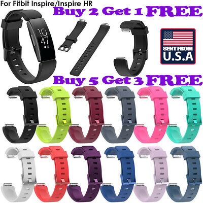 US SHIP Silicone Watch Band Wrist Strap Bracelet For Fitbit Inspire/Inspire HR 9