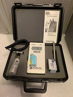 "Balmac the ""B"" Book Series Vibration Meter - Model 200"