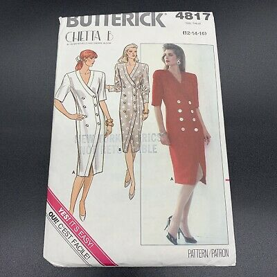 Butterick Vintage Sewing Pattern #4817 Misses Dress in Sizes 12-16 New Uncut