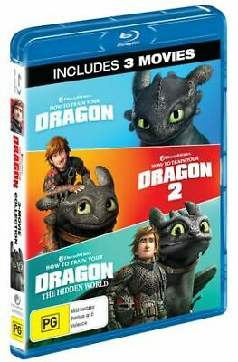 How to Train Your Dragon -3 Movie Coll (Blu-ray, 2019) (Region B) New Release