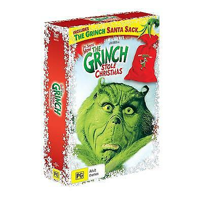 How The Grinch Stole Christmas  Christmas Bag (DVD, 2018) (Region 4) New Release