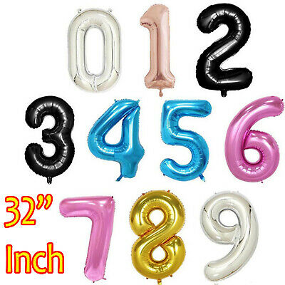 """32"""" Number Ballons Giant Foil  Birthday Party 1st/16/18/21/30/40/50/60/70/80th"""