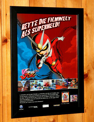 Viewtiful Joe Video game Small Poster Old Ad Page Framed GameCube PS2 NDS Capcom