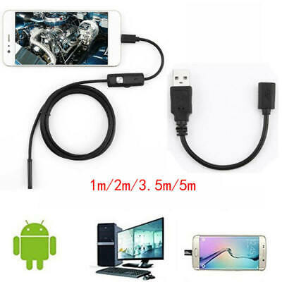 Waterproof USB Endoscope Borescope Inspection Tube Camera For Mini Android ZTM