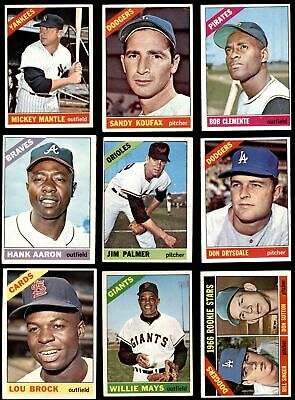 1966 Topps Baseball Low Number Complete Set VG/EX