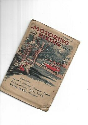 """Johnston Motoring and Hiking 3"""" Map probably 1920-30 Section J"""