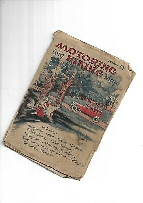 """Johnston Motoring and Hiking 3"""" Map probably 1920-30 Section FF"""