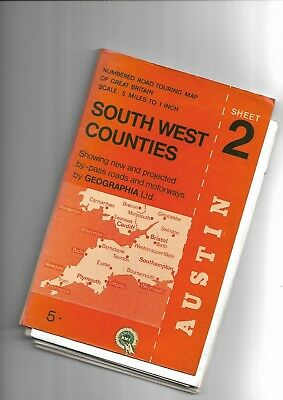 Geographia Road Touring Map SW COUNTIES 2
