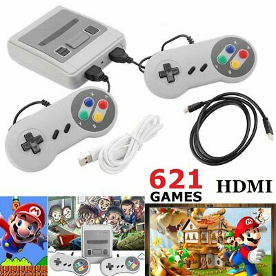 HDMI AV Mini Retro TV Game Console Classic Built-in 621 Game Controllers For Kid