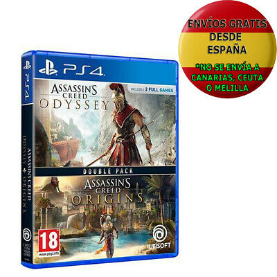 Double Pack Assassin's Creed Odyssey + Assassin's Creed Origins PS4 PAL ESPAÑA