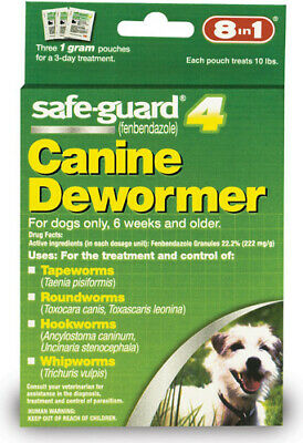 8 In 1 - Safe-Guard Canine DeWormer for Small Dogs - 1 Gram