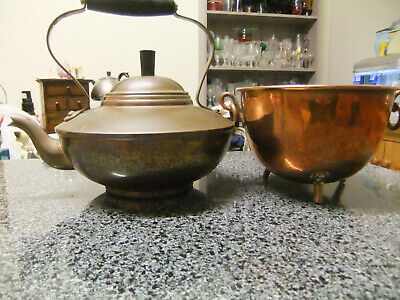 Vintagecopper Kettle And Coldron Planter