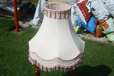 Large Gallery bell Vintage Fringed Lampshade. Lamp Shade. Vintage Lampshade