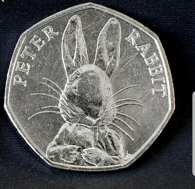 Peter Rabbit 50p 2016 special half whisker edition Very Rare Fifty Pence Coin