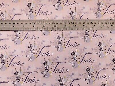 Dressmaking Cushions OFFICIAL Disney Tinkerbell Tink in Pink Peter Pan Fabric