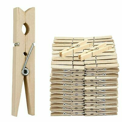 P-48 x WOODEN CLOTHES PEGS CLIPS PINE WASHING LINE AIRER DRY LINE WOOD PEG GARDE