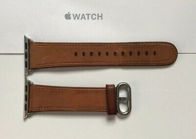 Genuine Apple Watch Saddle Brown LEATHER Classic Buckle Band Strap 38mm / 40mm