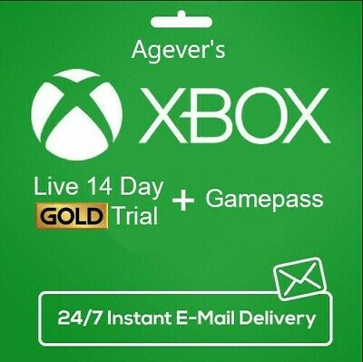 Xbox One Global Live Gold 14 Day Trial Membership Code Genuine, 3 Sec Delivery.