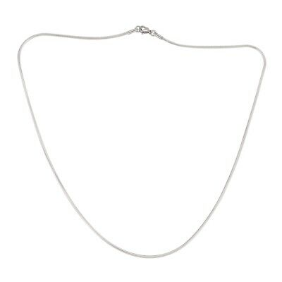 1PC 1.5mm Stainless Steel Round Snake Chain Necklace Silver Tone 50cm M4Y4