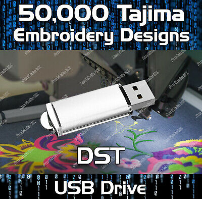 160,000 Tajima Embroidery design files DST on USB drive