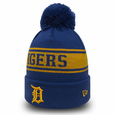 New Era MLB Detroit Tigers Royal Blue Yellow Seasonal Jake Cuff Knit Beanie Knit