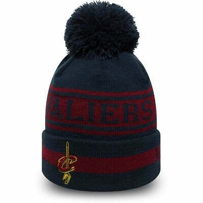 New Era NBA Cleveland Cavaliers Maroon Navy Seasonal Jake Cuff Knit Beanie Knit