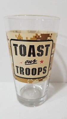 Shiner Beer Toast Our Troops Pint Beer Glass Shiner Texas Brewery