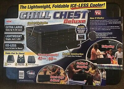 CHILL CHEST DELUXE Lightweight  Collapsible as seen on TV 60 Cans New Cooler Ice