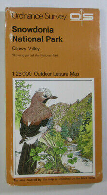 Old 1977 OS Ordnance Survey Outdoor Leisure 1:25000 Map Snowdonia - Conwy Valley