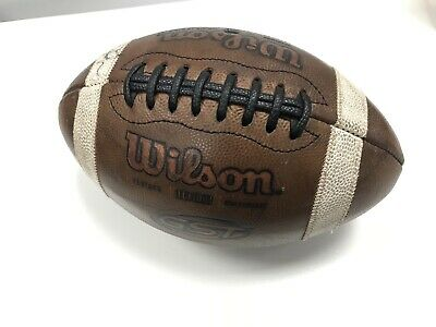 Wilson GST 1003 NCAA Leather Game Football Signed by Hightower, Dorsett, Flowers