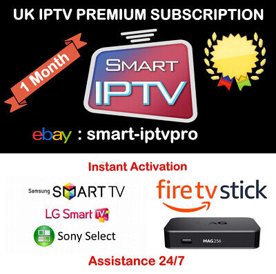 1 Month Hd Iptv Subscription Firestick Mag Smart Tv Premium Service *Sale*