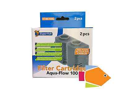 SUPERFISH AQUA FLOW FILTER CARTRIDGE 100 Double PACK