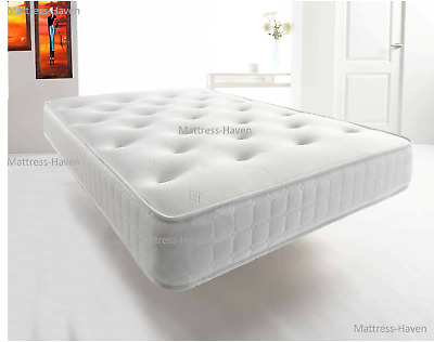 Memory Foam Topped Sprung Mattress  3Ft 4Ft 4Ft6 Double 5Ft King Uk Made Tuffted