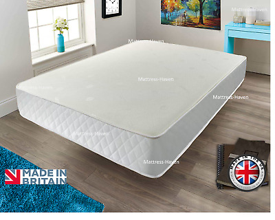 Cool BLUE Memory Foam Spring Mattress 3ft Single 4ft6 Double 5ft King 6ft S King