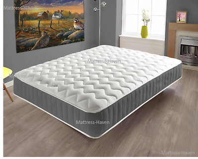 Memory Foam Topped Sprung Spring Star Mattress 3Ft 4Ft 4Ft6 5Ft 6Ft Double King