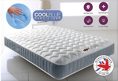 "Memory Foam Mattress 3ft Double 4ft6 5ft  6ft Matress 8"" 10"" 12"" Inch Options Av"