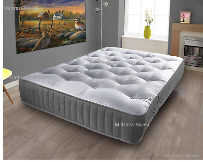 Memory Foam Topped Sprung Mattress  3Ft 4Ft 4Ft6 Double 5Ft King 6Ft Uk Q