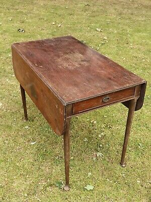 Antique Drop Leaf Table with Drawer