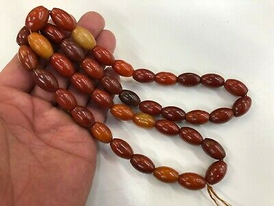 Ancient Chinese old Jade Necklaces & Pendants Hand Carved Jade Bead  Necklace 6#